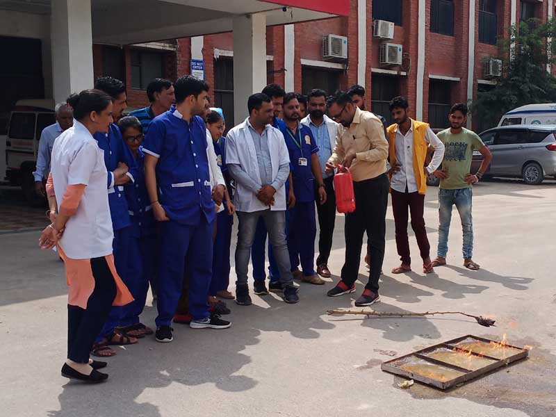 Fire Safety Training to Staff at Jan Sewa Hospital